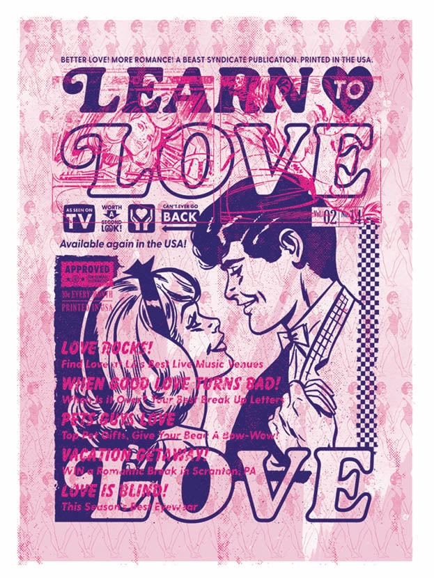 Learn to Love - Beast Syndicate - Various Sizes (canvas print)