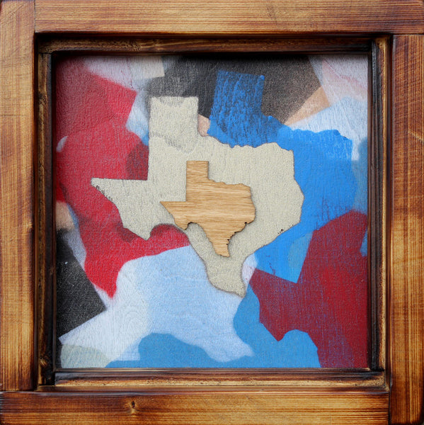 Lil' Texas State Framed #2 - Svenmeister - 8.5x8.5""