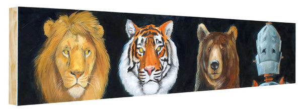 Lions & Tigers & Bears OH MY! Bot - Lauren Briere - 9x48""