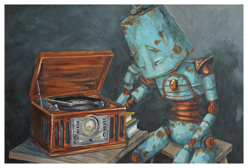 Listening Bot - Print by Lauren Briere