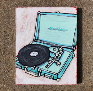 Little Turntable - Joel Ganucheau - 7x9""