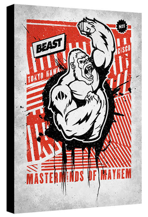 Mayhem Ape Black Red - Beast Syndicate - Various Sizes (canvas print)