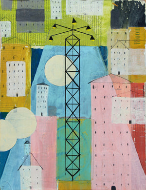 Moontower - Judy Paul - 12x16""