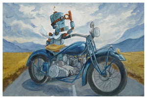 Moto Bot - Print by Lauren Briere