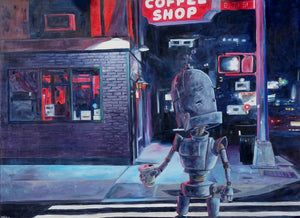 Night Bot - Lauren Briere - 48x36""