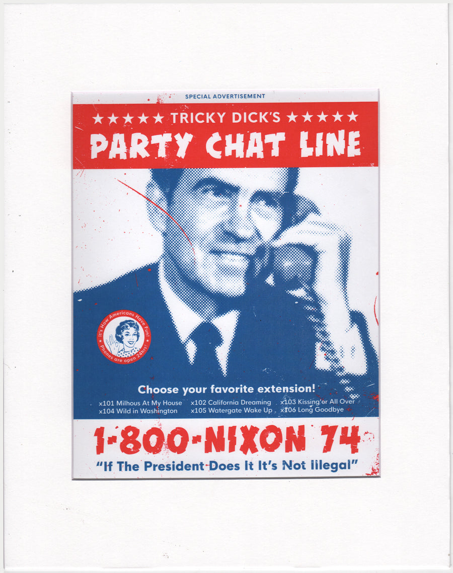 "Nixon Party Chatline - Beast Syndicate - 11x14""(print)"