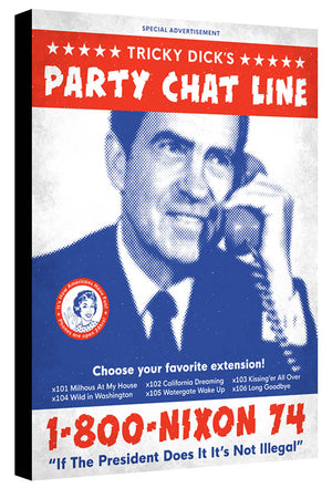 Nixon Party Line - Beast Syndicate - Various Sizes (canvas print)
