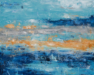 Ocean - Dawn Winter - 31 x 35""