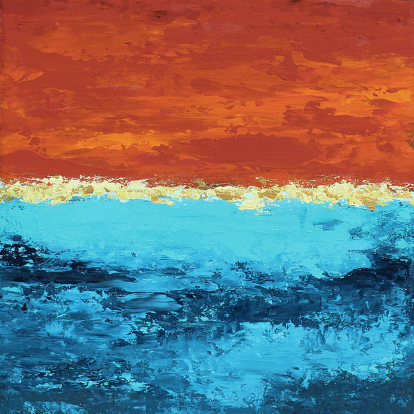 Ocean Sunrise - Dawn Winter - 18x18""