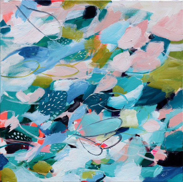 Ocean and Olive - Anna Swanson - 20x20""