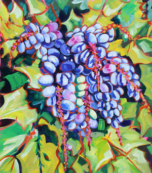 Oregon Grapes - Sari Shryack - 20x24""