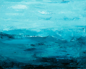 Pacific Waves - Dawn Winter - 16x20""