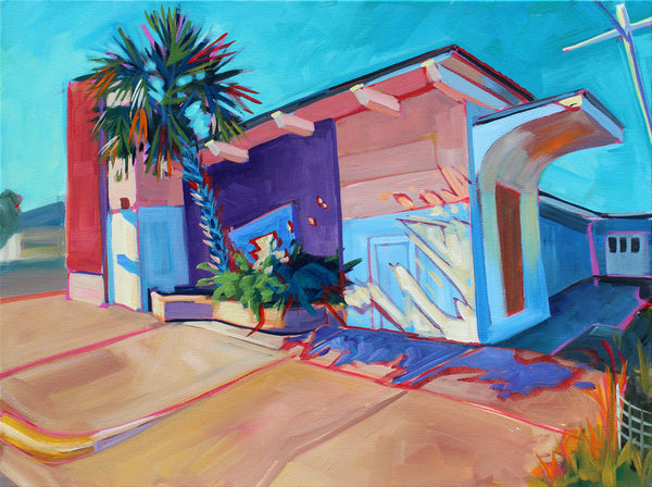 Palm Tree Hut on 7th - Sari Shryack - 18x24""
