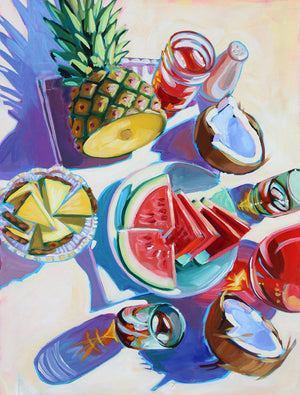 Pineapple & Coconut - Sari Shryack - 18x24""
