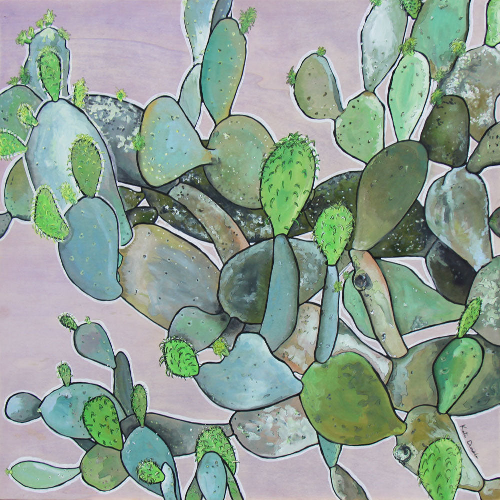 Prickly Pear - Katie Dunkle - 30x30""