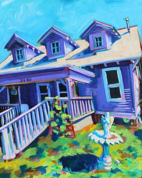 Purple House- Sari Shryack - 16x20""