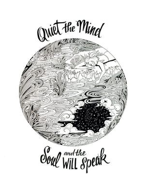 Quiet the Mind - Becca Borrelli - 11x14""