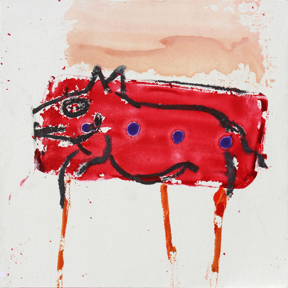 Red Dog - Larry Goode - 8x8""