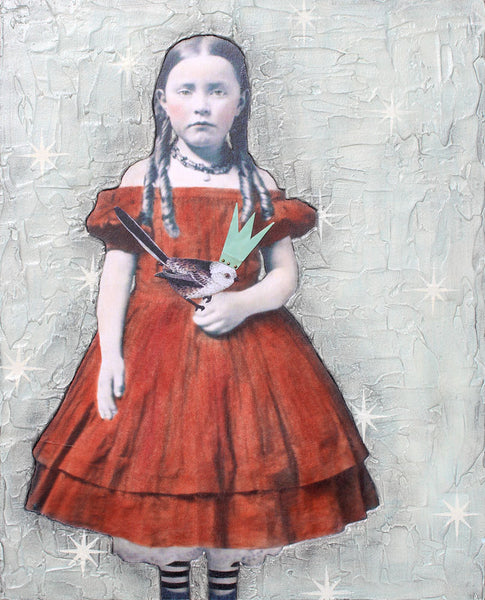 Red Dress - Stephanie Rubiano - 16x20""