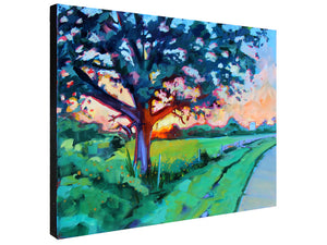 Run Sunset - Sari Shryack - 24 x 18""