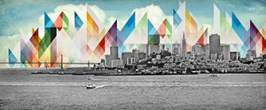 Jake Bryer - San Francisco Skyline - 30x72""
