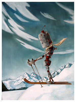 Ski Bot - Print by Lauren Briere