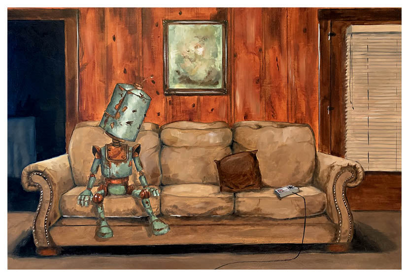 Sofa Bot - Print by Lauren Briere