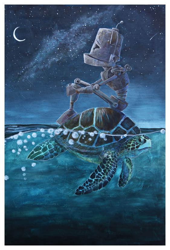 Sea Turtle Bot - Lauren Briere - Print