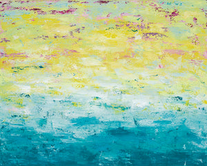 Seaside Days - Dawn Winter - 31 x 35""