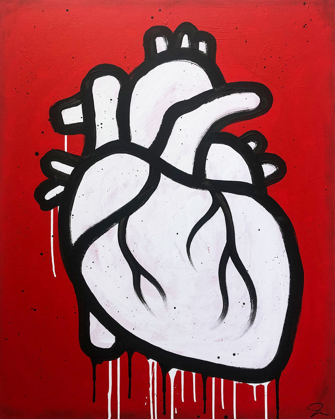 Simple Heart - Joel Ganucheau - 24x30""