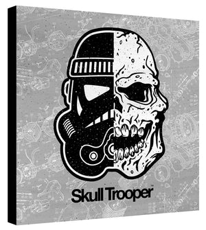 Skull Trooper Gray Schematic - Beast Syndicate - Various Sizes (Canvas Print)