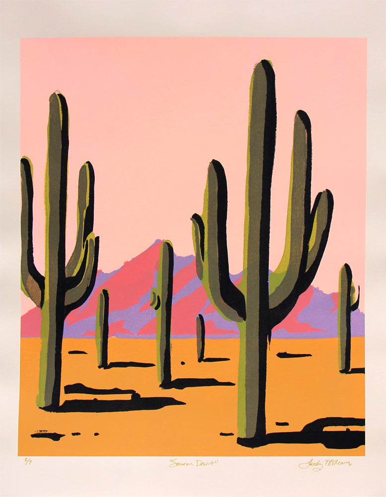 Sonoran Desert Pink - Landry McMeans - 18x24""