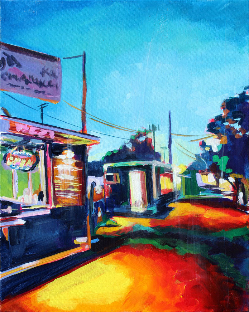 South 1st Street Food Truck Park - Sari Shryack - 16x20""