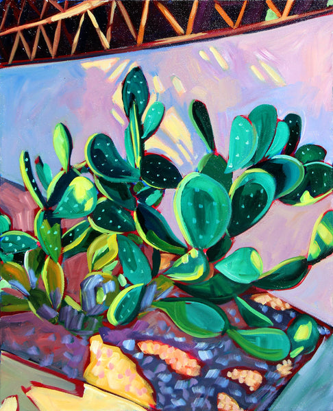 South Congress Cactus - Sari Shryack - 16 x 20""