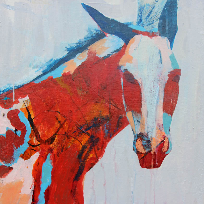 Spirit Donkey - Judy Paul - 20x20""