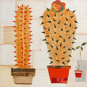 Still Life with Cacti - Larry Goode - 24x24""