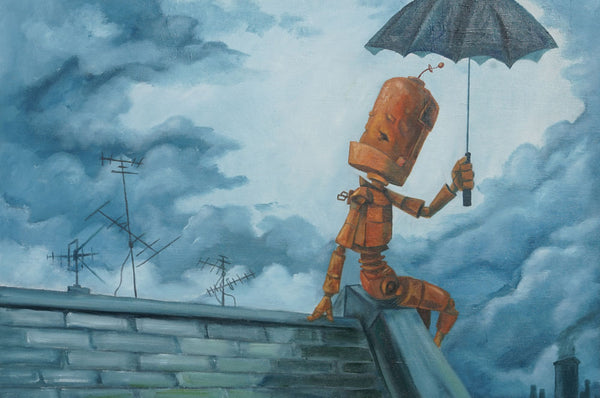 Stormy Roof Bot - Lauren Briere - 16x24""