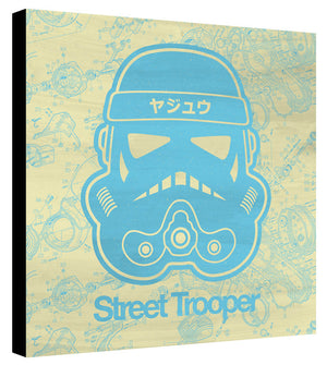 Street Trooper Light Blue Yellow Schematic - Beast Syndicate - Various Sizes (Canvas Print)