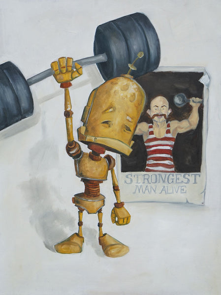Strong Bot - Lauren Briere - 12x16""