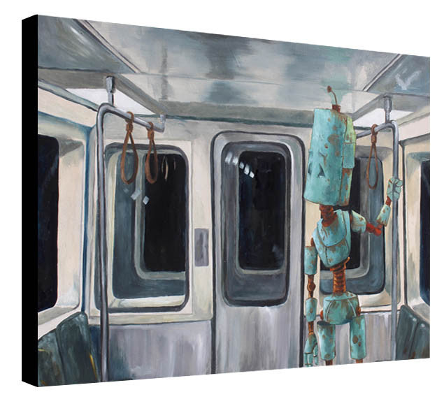Subway Train Bot #1 - Print by Lauren Briere