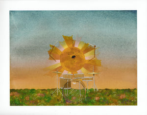 Sun Drums - Heather Sundquist Hall - 11x14""