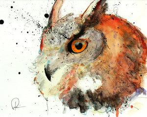 The Great Owl - Patrick Hobbie - 8x10""