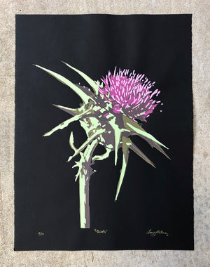Thistle (on black) - Landry McMeans - 18x24""