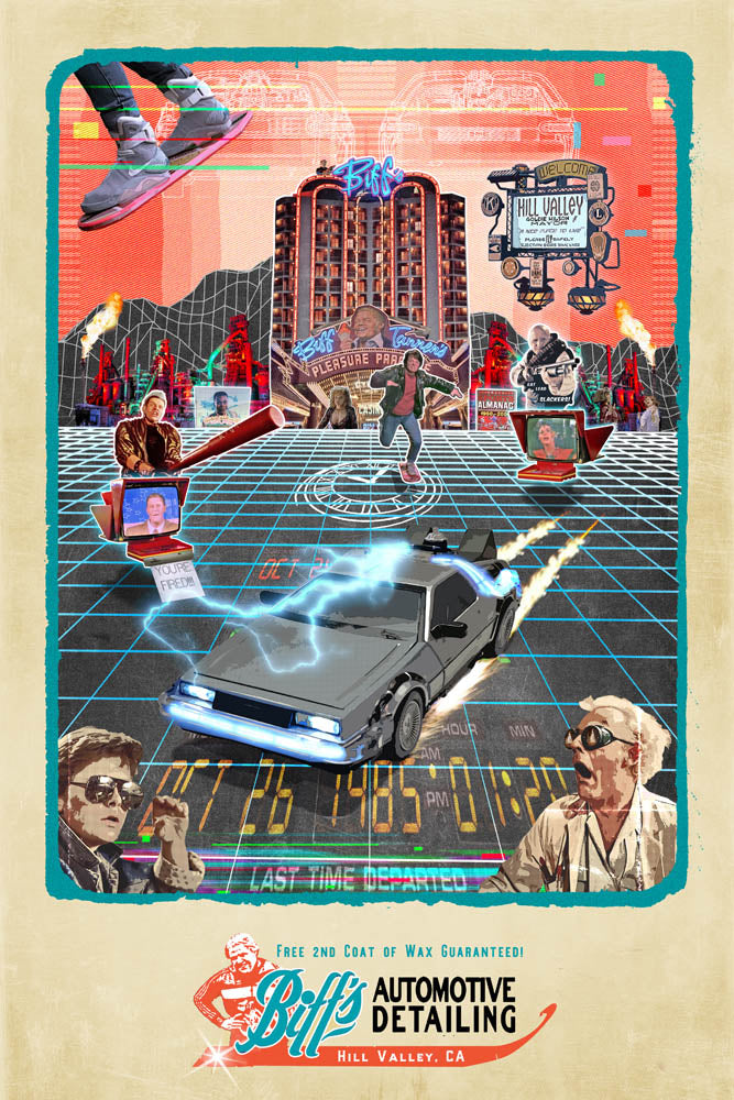 80's Movie Tribute Series - Back to the Future 2 by Jake Bryer