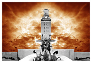 UT Tower Orange by Jake Bryer