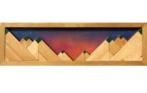 "Valley Sunset - Raymond Allen - 22"" x 6.5"""