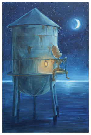 Water Tower Bot - Lauren Briere - Print