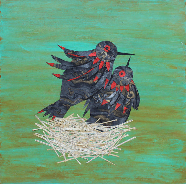 Nest - Larry Goode - 24x24""
