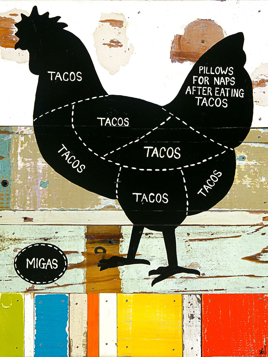 Where Tacos Come From - Pollo - Brian Phillips - Print