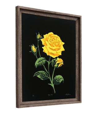 Yellow Rose (UNFRAMED PRINT) - Landry McMeans - 18x24""